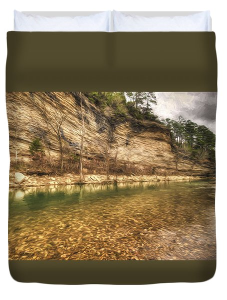 War Eagle Bluff Duvet Cover