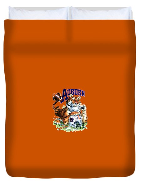 War Eagle  Duvet Cover by Herb Strobino