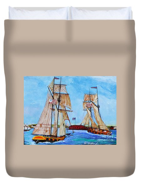 War Of 1812 In S.carolina Duvet Cover by Bill Hubbard