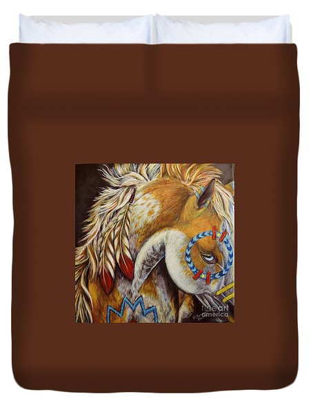 War Pony #4 Duvet Cover by Amanda Hukill