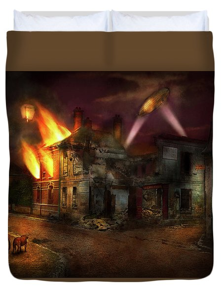 Duvet Cover featuring the photograph War - Wwi - Not Fit For Man Or Beast 1910 by Mike Savad