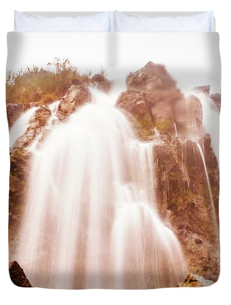 Waratah Wild Waterfall Duvet Cover