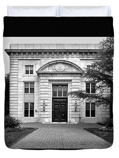 Ward Hall - United States Naval Academy Duvet Cover by Brendan Reals