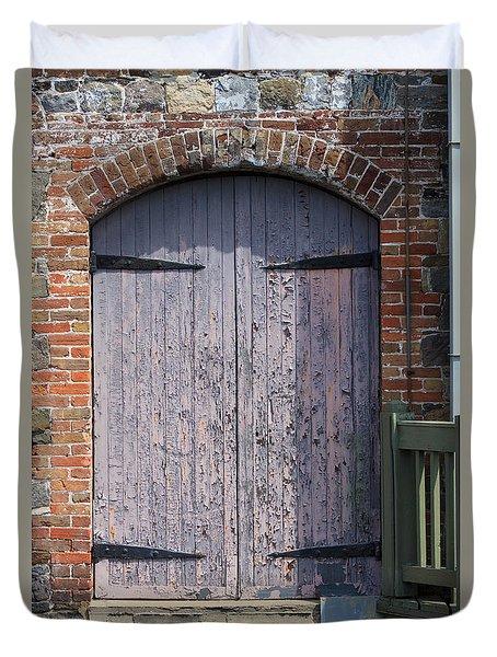 Warehouse Wooden Door Duvet Cover