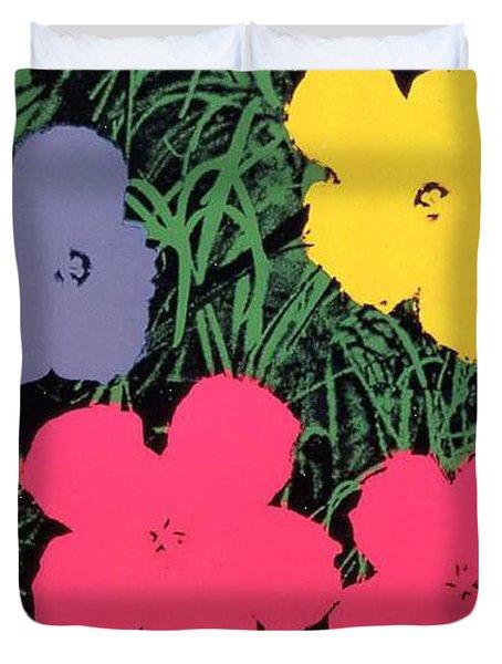 Warhol - Flowers 4 Andy Warhol Duvet Cover