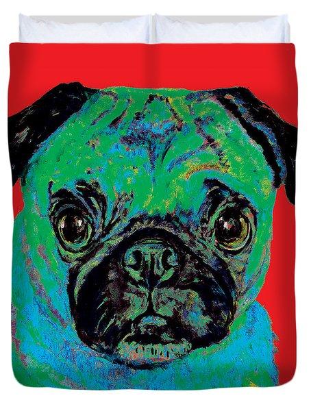 Warhol Pug Red Duvet Cover