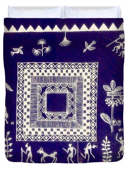 Warli Village  Duvet Cover
