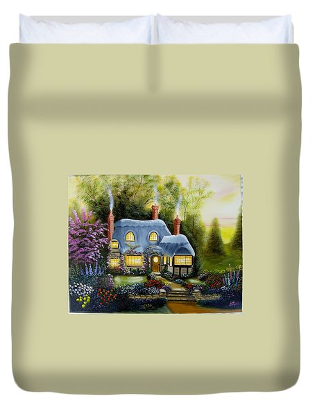 Warm And Cozy Cottage Duvet Cover