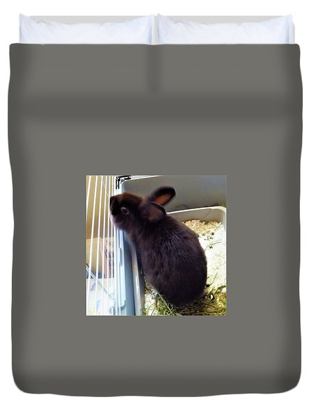 Duvet Cover featuring the photograph Warm And Soft by Denise Fulmer