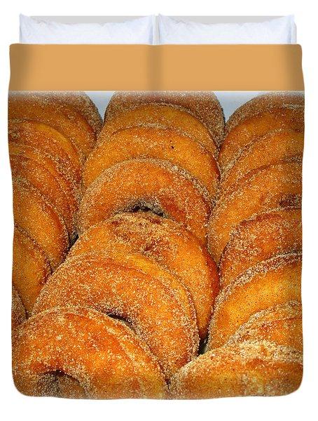 Warm Cider Donuts Duvet Cover