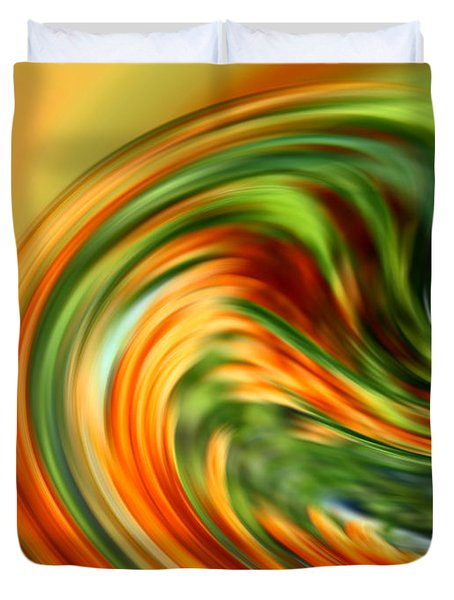Warm Color Abstract Duvet Cover
