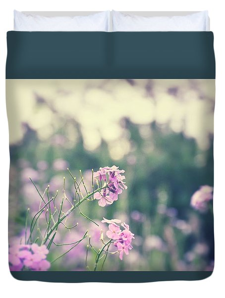 Warm Flowers Duvet Cover