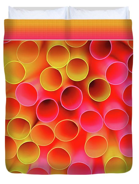 Duvet Cover featuring the photograph Warm In Neon By Kaye Menner by Kaye Menner