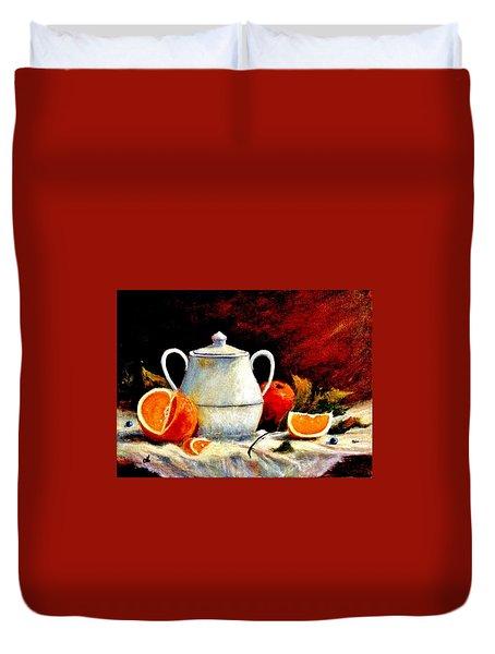 Warm Light Duvet Cover by Cristina Mihailescu