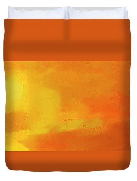 Duvet Cover featuring the digital art Warm Moment by John Hansen