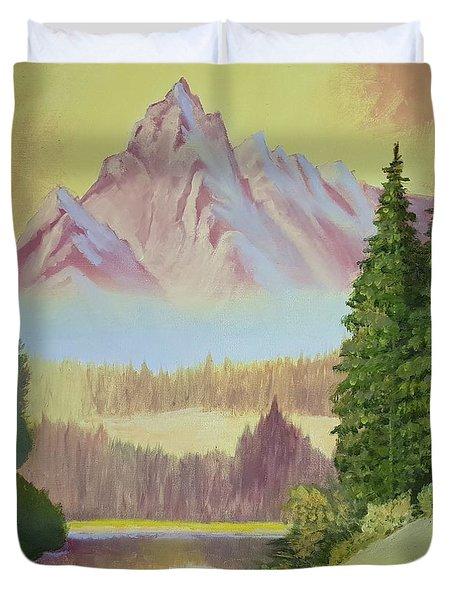 Warm Mountain Duvet Cover