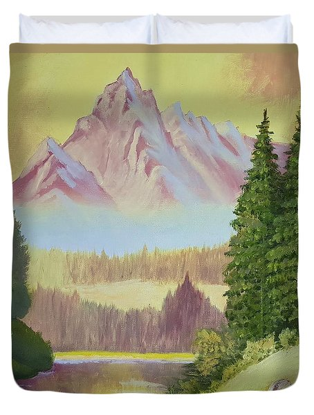 Warm Mountain Duvet Cover