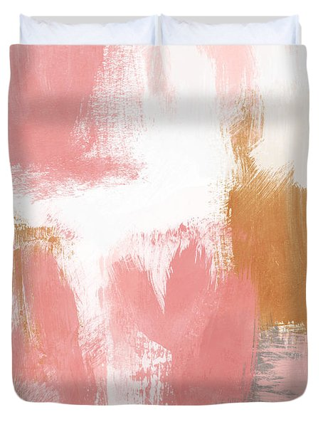 Warm Spring- Abstract Art By Linda Woods Duvet Cover