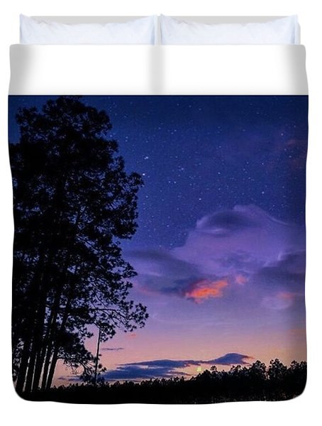 Warm Starry Nights Duvet Cover