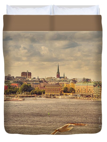 Warm Stockholm View Duvet Cover