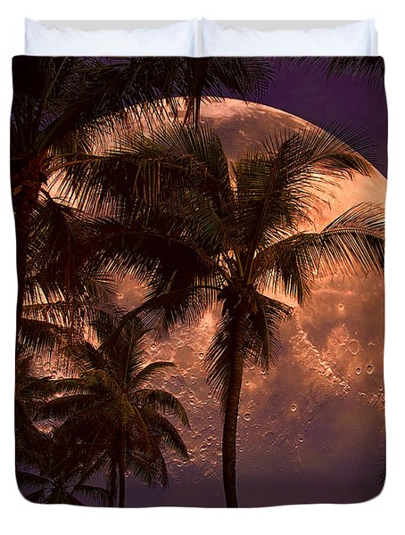 Warm Tropical Nights Duvet Cover