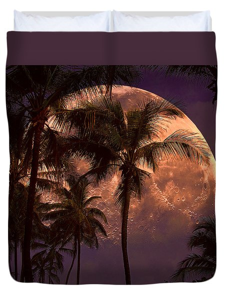 Duvet Cover featuring the photograph Warm Tropical Nights by John Rivera