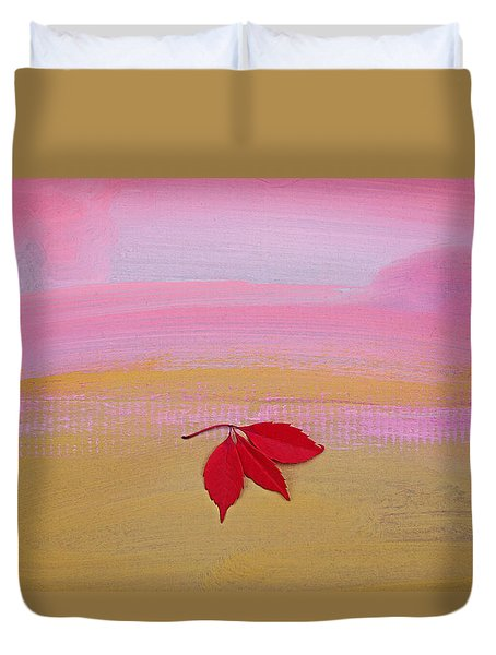 Duvet Cover featuring the painting Warm Up by Charles Stuart