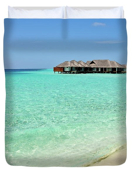Warm Welcoming. Maldives Duvet Cover