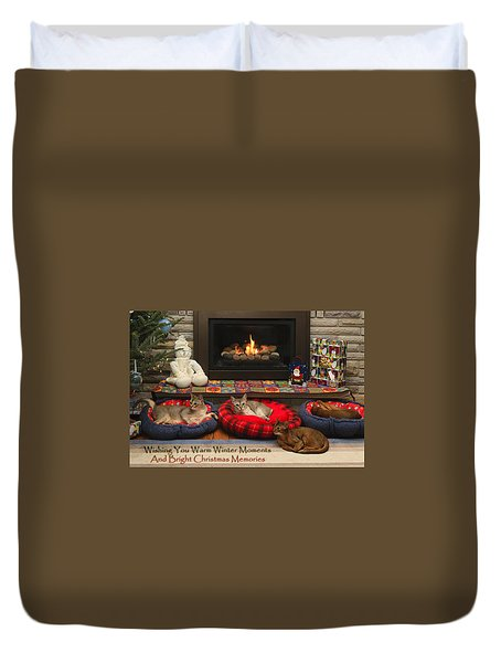 Duvet Cover featuring the photograph Warm Winter Moments by Gary Hall