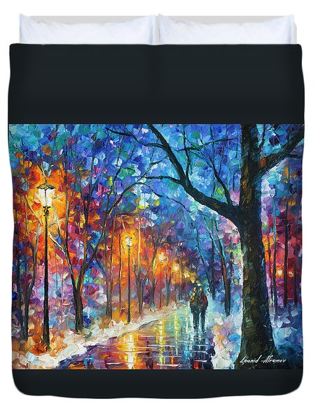 Warmed By Love Duvet Cover by Leonid Afremov