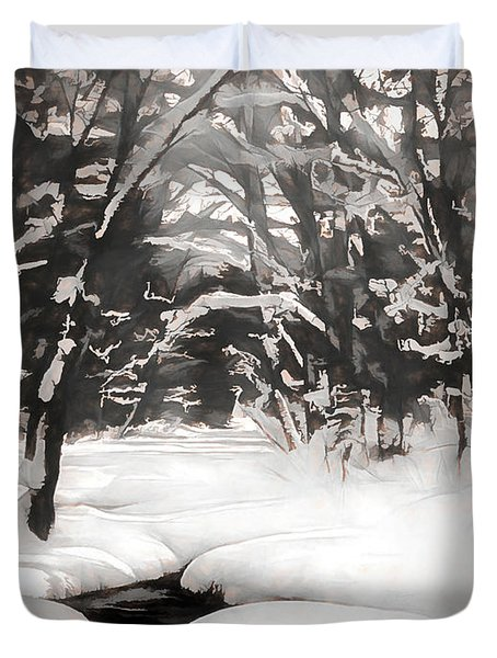 Warmth Of A Winter Day Duvet Cover