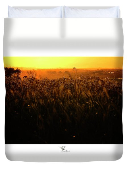 Warmth Of A Yellow Sun Duvet Cover