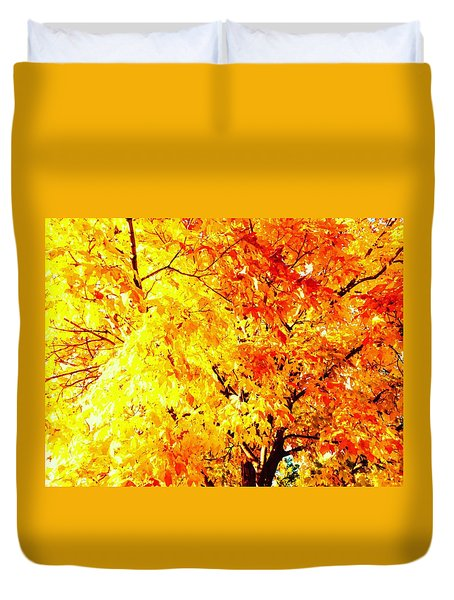 Warmth Of Fall Duvet Cover