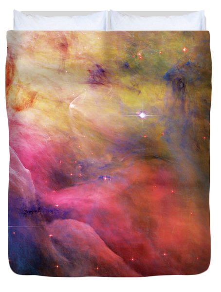 Warmth - Orion Nebula Duvet Cover by Jennifer Rondinelli Reilly - Fine Art Photography