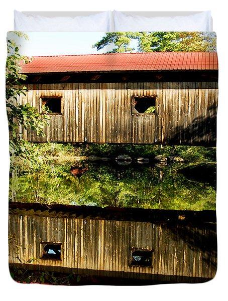 Warner Covered Bridge Duvet Cover by Greg Fortier