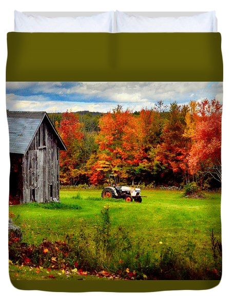 Warner Farm Duvet Cover by Tricia Marchlik