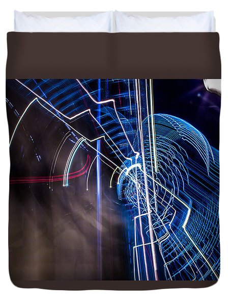 Duvet Cover featuring the photograph Warp by Micah Goff