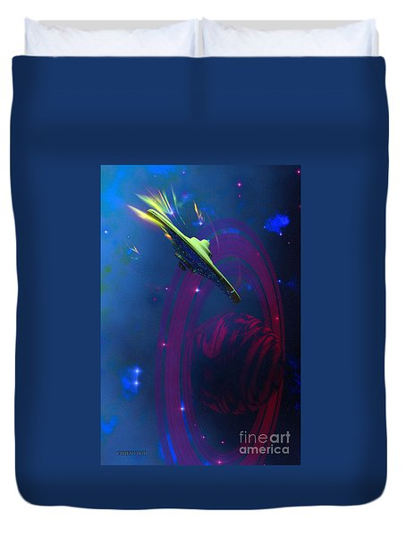 Warp Pulse Duvet Cover by Corey Ford