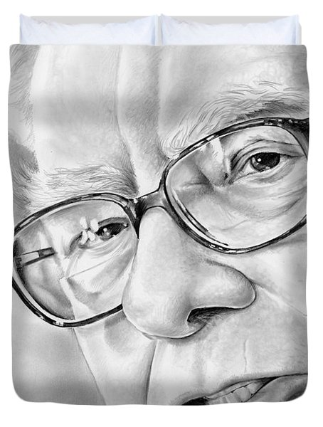 Warren Buffett Duvet Cover by Greg Joens