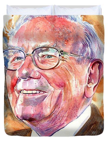 Warren Buffett Painting Duvet Cover