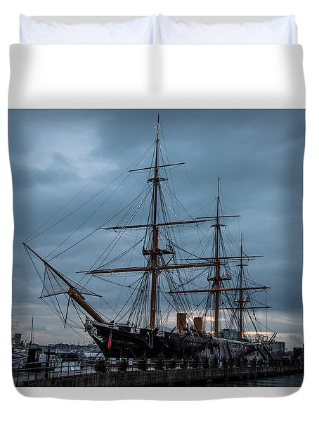 Warrior At Christmas Duvet Cover