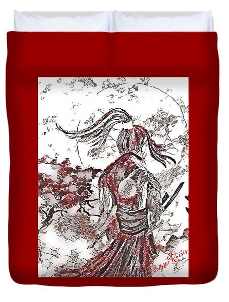 Warrior Moon Anime Duvet Cover by Vennie Kocsis