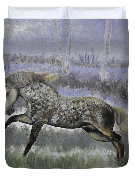 Warrior Of Magical Realms Duvet Cover