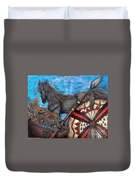 Warrior Spirit Duvet Cover