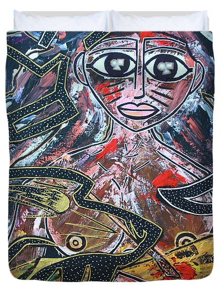 Warrior Spirit Woman Duvet Cover