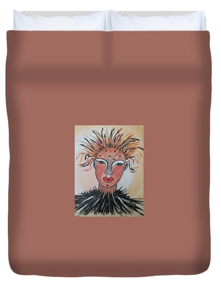 Warrior Woman  #3 Duvet Cover by Sharyn Winters