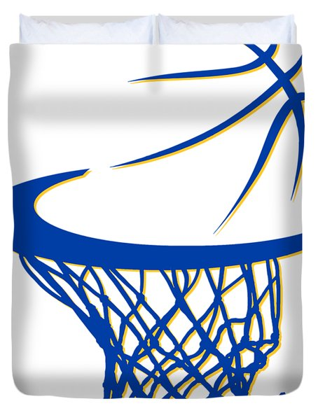 Warriors Basketball Hoop Duvet Cover