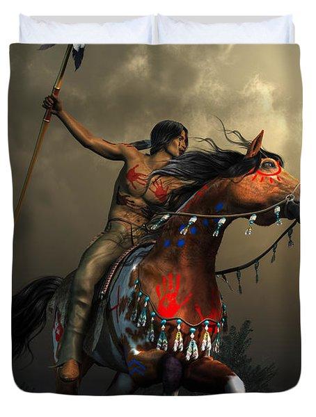 Warriors Of The Plains Duvet Cover