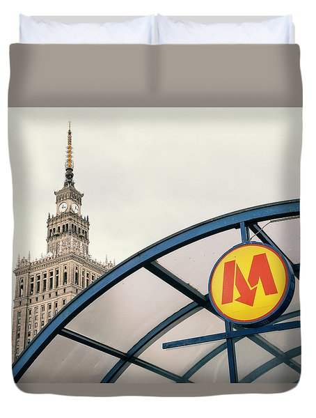 Duvet Cover featuring the photograph Warsaw by Chevy Fleet