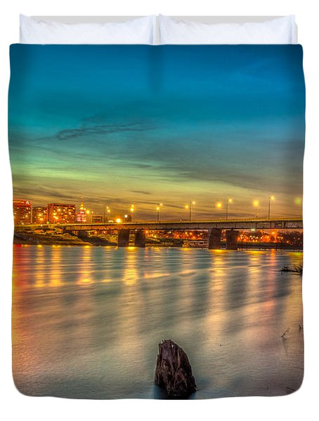 Warsaw Reflected By Vistula River Duvet Cover